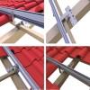 琉璃瓦屋頂太陽能光伏支架