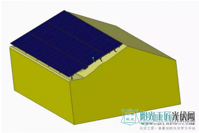 【光伏电站图纸】屋顶可调光伏电站三维模型