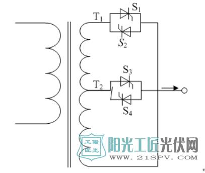 含固态分接头变压器的控制原理图