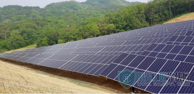 韩国最大的深山光伏项目使用4MW晶科能源高效组件