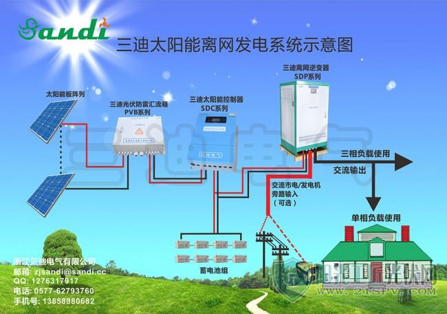 中文三迪离网系统图带市电互补加水印